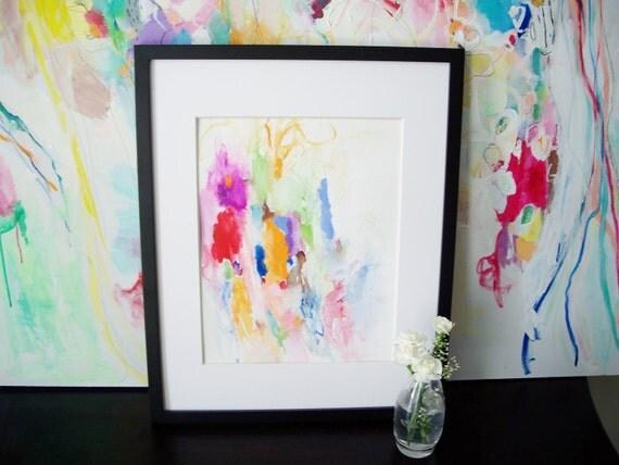 Sweetheart- Original Painting- 11x15- Bright, Colorful, Beautiful