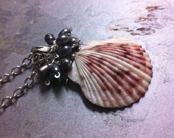Cluster of Pearls Seashell Necklace
