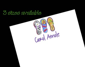 Personalized Flip Flop Notepads - Beach Gift ~ 3 sizes