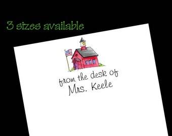 Personalized School Teacher Notepads - 50 sheets