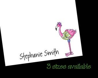 Personalized Flamingo Notepad ~ Florida Beach Gift ~ 3 Sizes