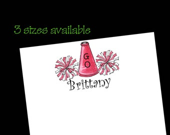 Personalized Cheer Notepads - Cheerleader Gift ~ 3 sizes