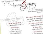 Kendall Fan Wedding Programs