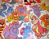 Wuzzles Fun Sticker Pack  - 80s retro cartoons - nostalgic - wacky - kitschy - retro