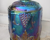 Indiana Blue Carnival Glass