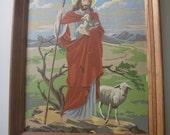 Vintage Paint by numbers Jesus painting