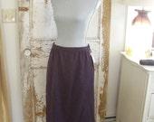Vintage Plumb Pendleton Wool Skirt