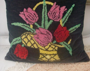 Vintage Hooked pillow