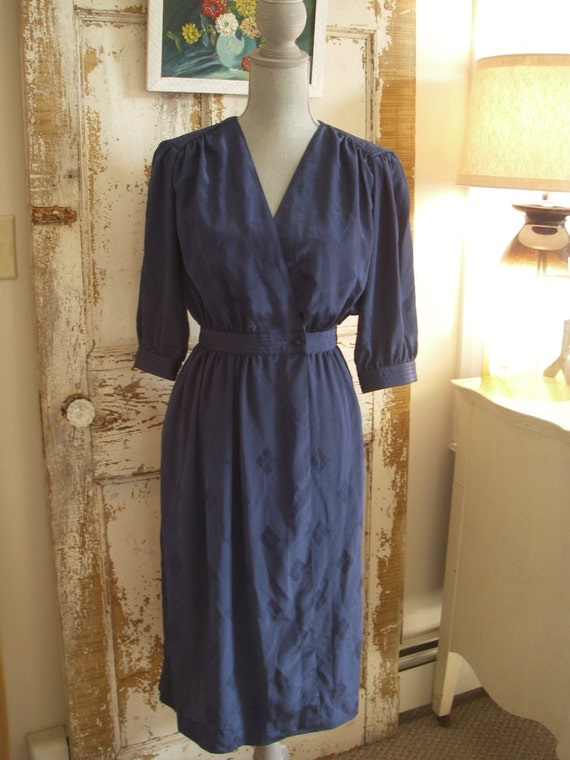 Vintage Midnight blue wrap dress