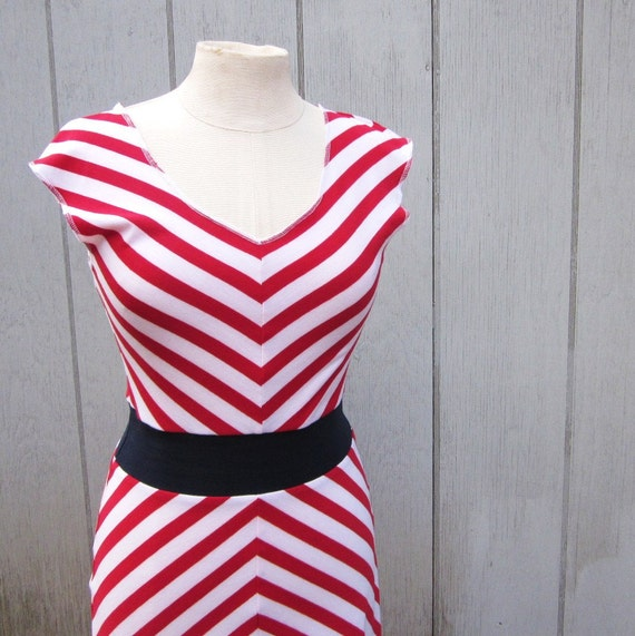 Reserved Listing: Striped Dress - Nautical S/M