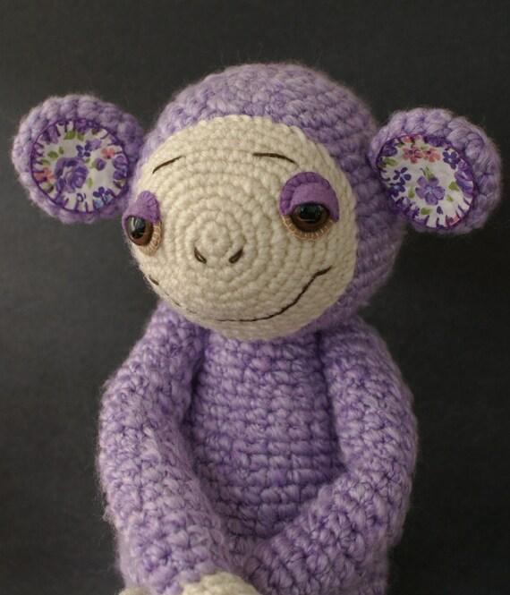 Lavender Amigurumi Monkey