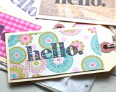 Hello Gift Tags- Six