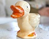 Vintage Ducky Planter, Spring Decor, Nursery Decor, Easter Decor