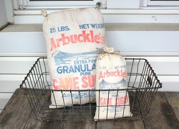 Farmhouse Pillow,Sugar Bag Pillow- Arbuckle's, Home Decor