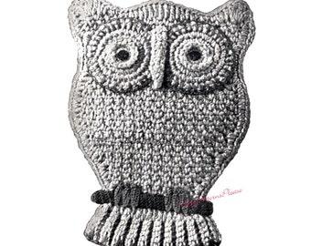 Vintage Owl Potholder to Crochet - PDF Pattern - PrettyPatternsPlease