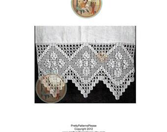 1917 Antique Crochet Pattern Lace Edging for Blinds - PDF - PrettyPatternsPlease