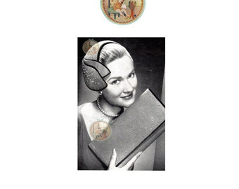 Circa 1955 Hat and Handbag for Women Pattern to Sew - PrettyPatternsPlease