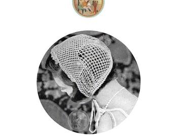 Coy & Demure Boudoir Cap Circa 1932 - PrettypatternsPlease