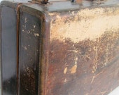 1930's Suitcase, Leather, Luggage, Bag, Coffee Brown, Customized, from Tessiemay