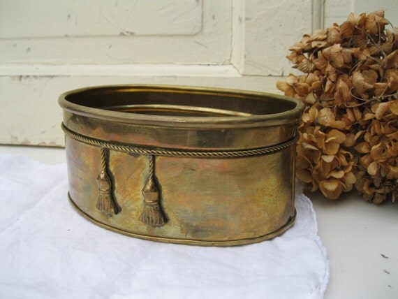 Vintage Copper Planter with Patina from Tessiemay