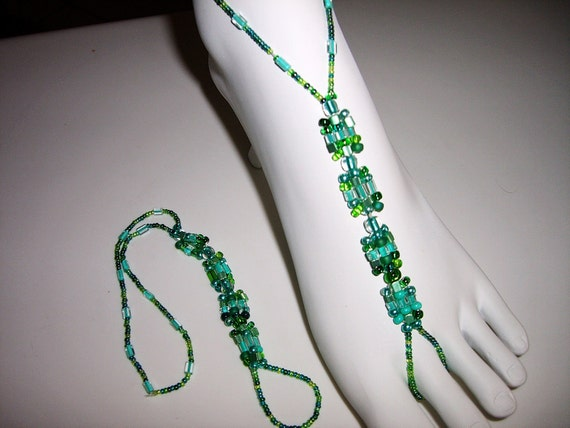 Boho Chic One of a Kind Barefoot Sandals