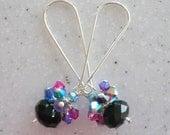 Swarovski PARTY Crystal Earrings -- Long Version