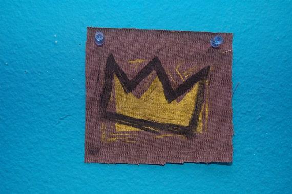 Basquiat Crown Patch//Black Version//Limited