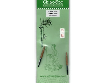 2009-6 9 Inch Size 6 (4.00mm) ChiaoGoo Bamboo Circular