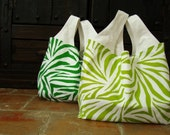 SALE Set of two animal print Eco-Friendly Reusable Grocery bags
