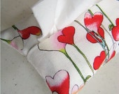 Free shipping Hearts Fabric Tissue Holder