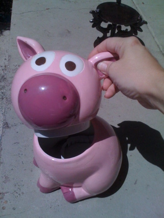 REDUCED PRICE - Collectible Pink Pig Cookie Jar