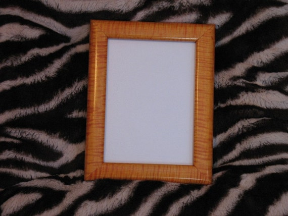 Orange Dyed Tiger Maple Picture Frame