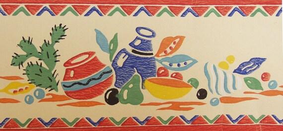 Vintage Trimz Wallpaper Border Mexican Great With Fiesta Ware