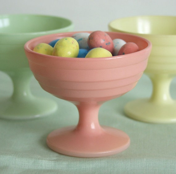 Pretty Pastel Vintage Moderntone Sherbets Set of Six