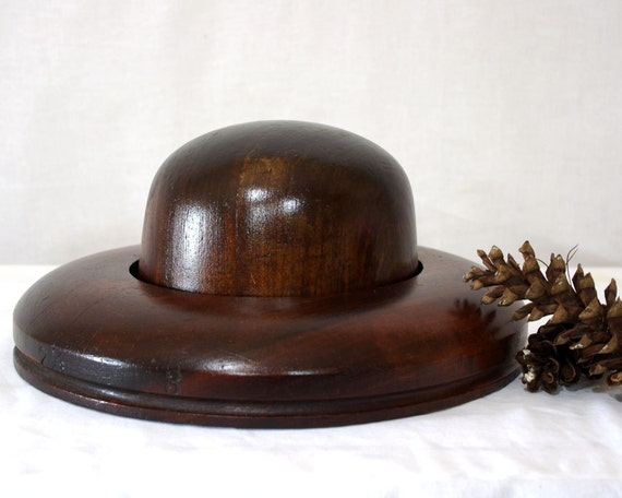 Vintage Hat Block Form, Crown and Brim