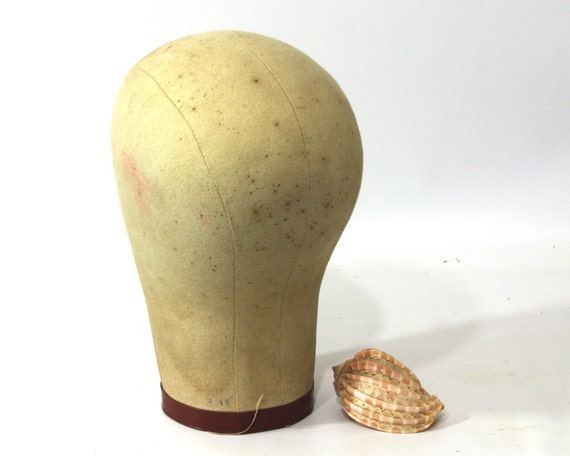 Vintage Millinery Mannequin Canvas Cloth Hat Form Wig Display