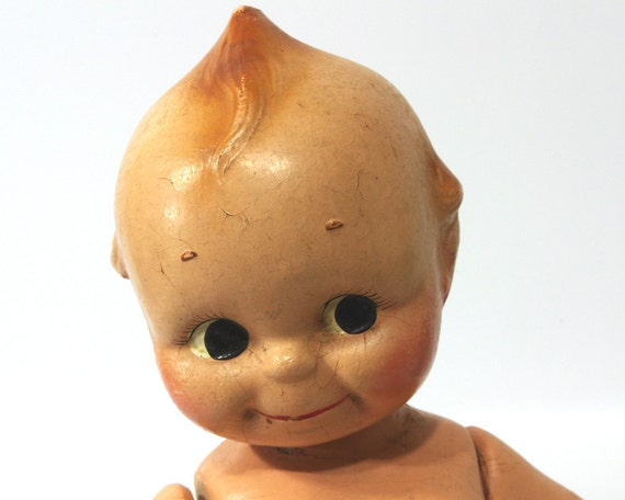 Vintage Kewpie Doll, Composition Doll, 1930s Rose O'Neill