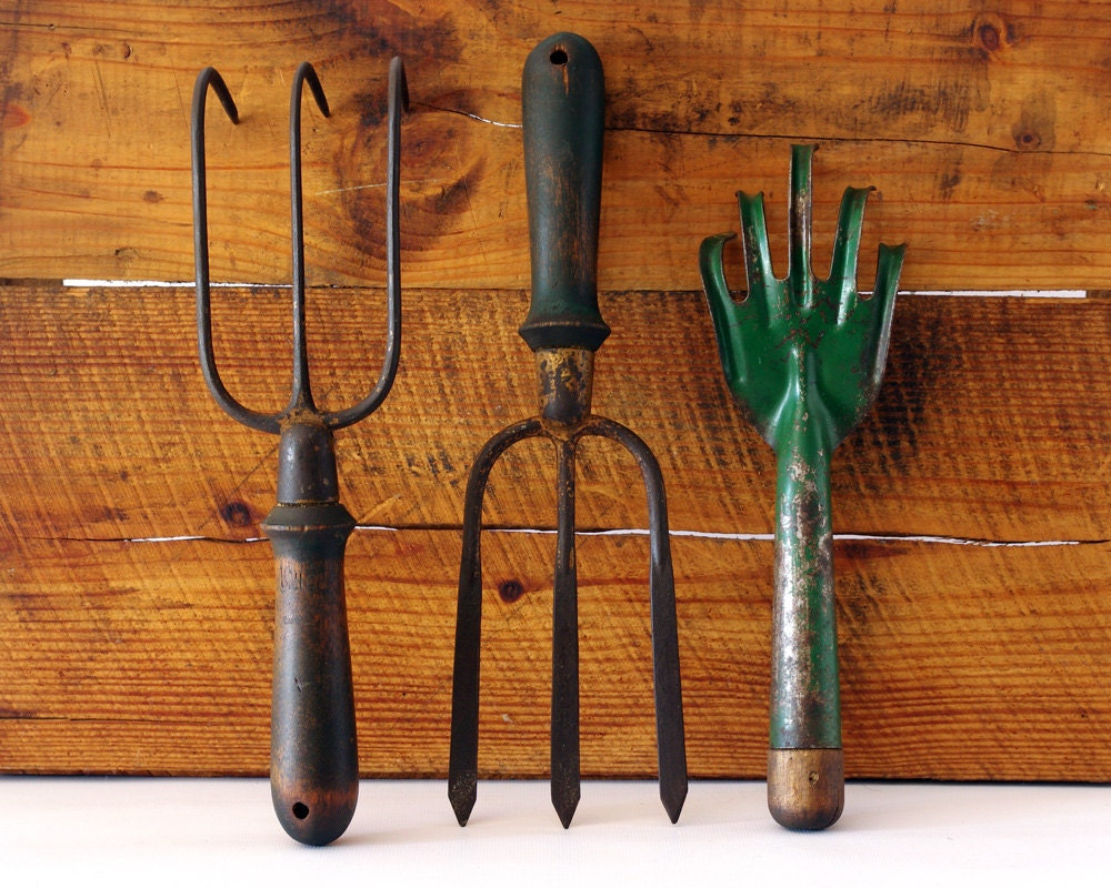 vintage garden tools instant collection