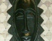 Wood Carved Mask Wall Decoration