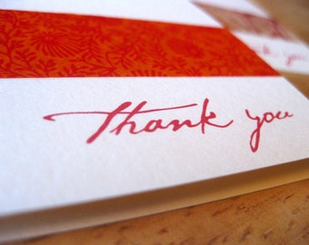 Set of 4 Thank you Cards, Variety Pack
