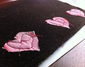 Scruffy Hearts Club Card- Chocolate brown & pink