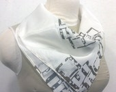 Japanese Art-Deco Inspired Silk Chiffon Scarf