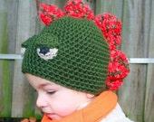 Hat Crochet Pattern dinosaur hat pattern boy hat pattern boy pattern dinosaur pattern  includes 4 sizes from newborn to adult (29)