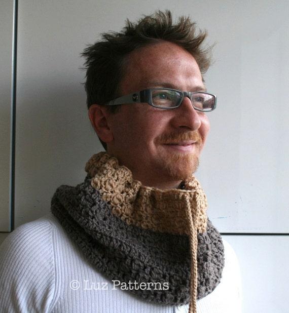 Crochet Scarf pattern cowl crochet pattern crochet cowl pattern Crochet Patterns Men scarf pattern Men cowl pattern (81)