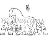 Coloring pages - Horse themed