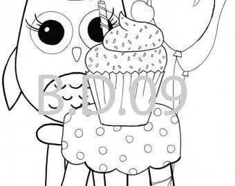 Coloring pages - Owl Themed - 10 pc