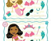 Printable Fashion Mermaid Paper Dolls