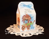 Lion Baby Boy - Baby Shower Favor Boxes- set of 10
