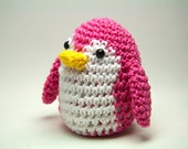 Penguin Pincushion in Pink