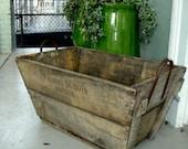 Vinatge Rustic French Wooden Champagne Basket